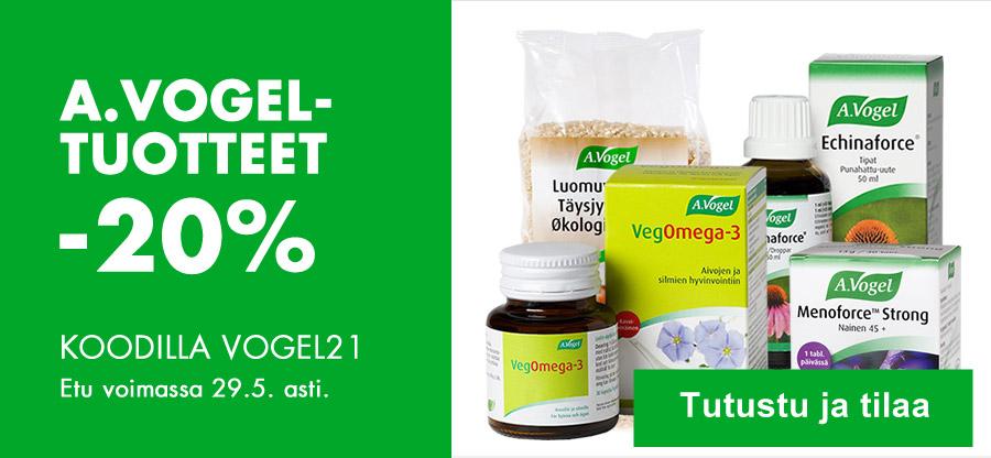 A. Vogelin tuotteet nyt -20% koodilla VOGEL21