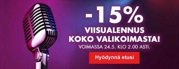 Hyvinvoinnin Tavaralon Viisuvalvojaiset: -15% alennus koko valikoimasta! Voimassa 24.5 klo 2 asti.