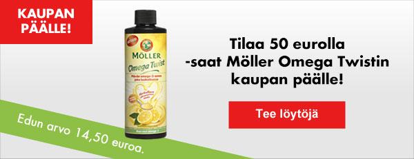 Tilaa vähintään 50 eurolla - saat Möller Omega Twistin kaupan päälle!