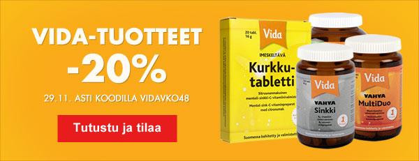 Tällä viikolla kaikki Vidan tuotteet -20 kampanjakoodilla VIDAVKO48