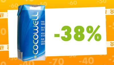 Cocowell-kookosvesi nyt vain 2€/purkki! Parasta ennen 4.6.2015.
