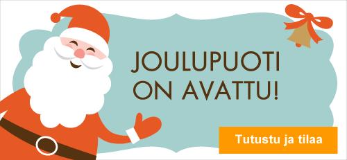 Joulupuoti on avattu. Tilaa nyt joulun parhaimmat lahjat meiltä!