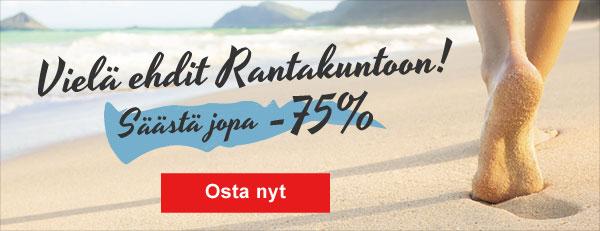 Vielä ehdit rantakuntoon! Säästä jopa -75%!
