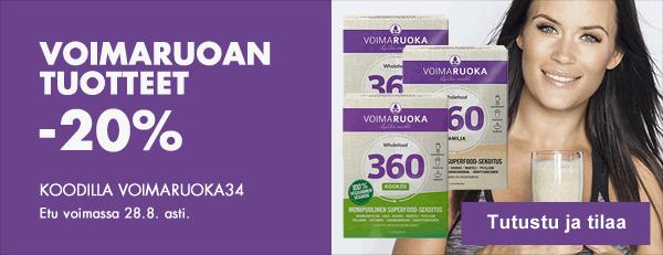 Tällä viikolla kaikki Voimaruoan tuotteet -20% koodilla VOIMARUOKA34