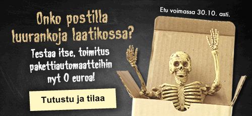 Toimitukset Pakettiautomaatteihin nyt 0 euroa!
