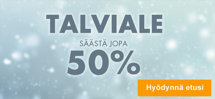 Talviale on täällä! Tuotteita nyt jopa 50 % alennuksella!